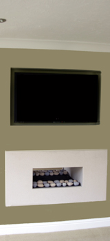 Fire place and LED TV